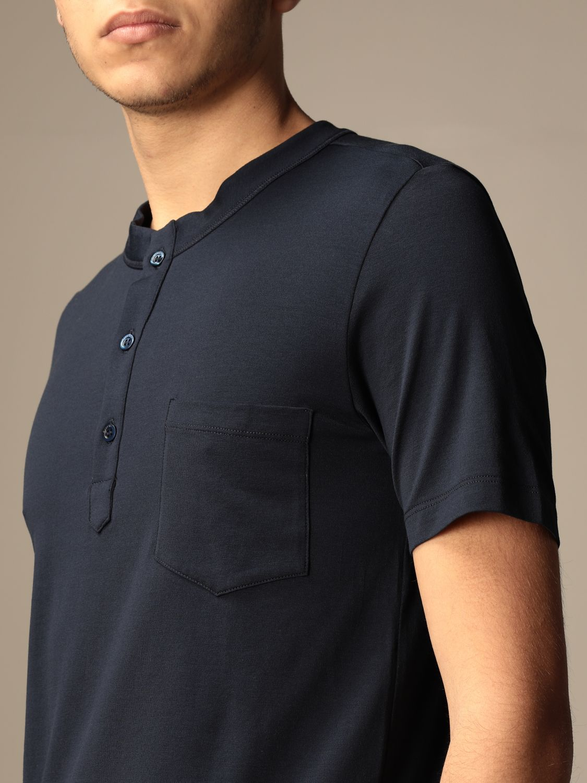 Camiseta Cruciani: Camiseta hombre Cruciani azul oscuro 3