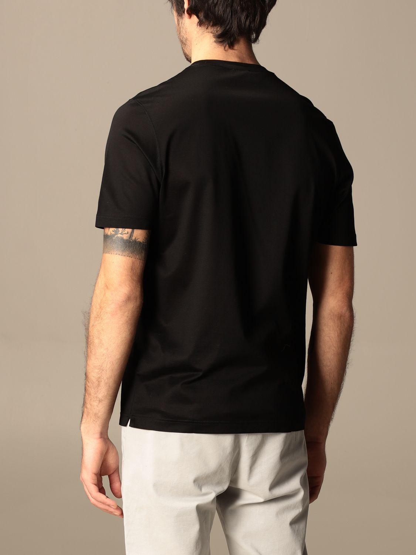 T-shirt Barba Napoli: T-shirt basic Barba Napoli in cotone nero 2