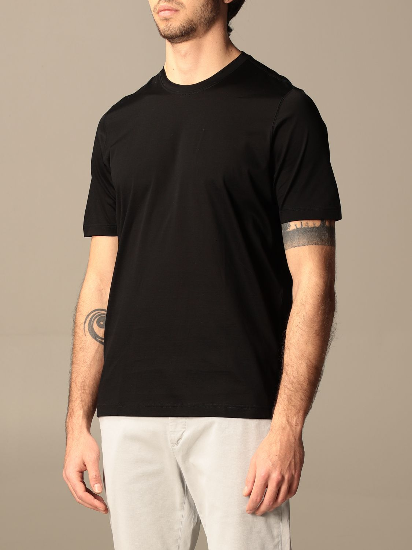 T-shirt Barba Napoli: T-shirt basic Barba Napoli in cotone nero 3