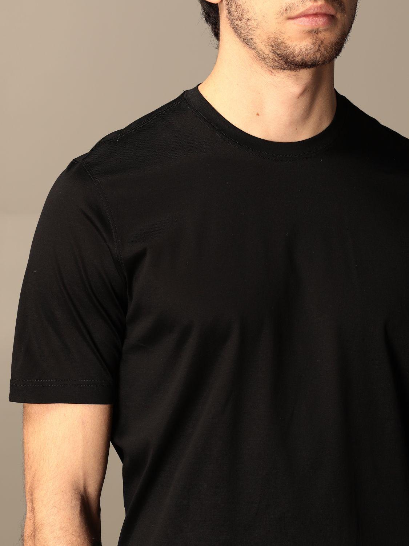 T-shirt Barba Napoli: T-shirt basic Barba Napoli in cotone nero 4