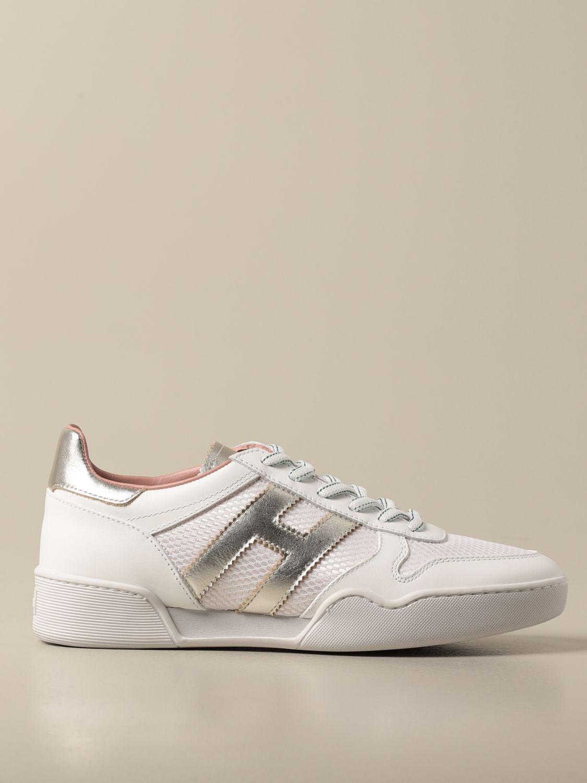 HOGAN: sneakers in leather and micro mesh   Sneakers Hogan Women ...