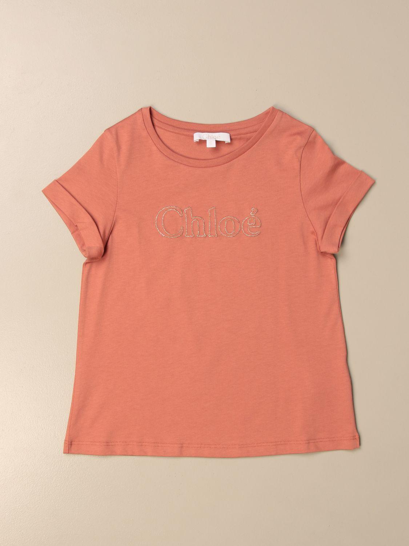 Camisetas Chloé: Camisetas niños ChloÉ rosa 1