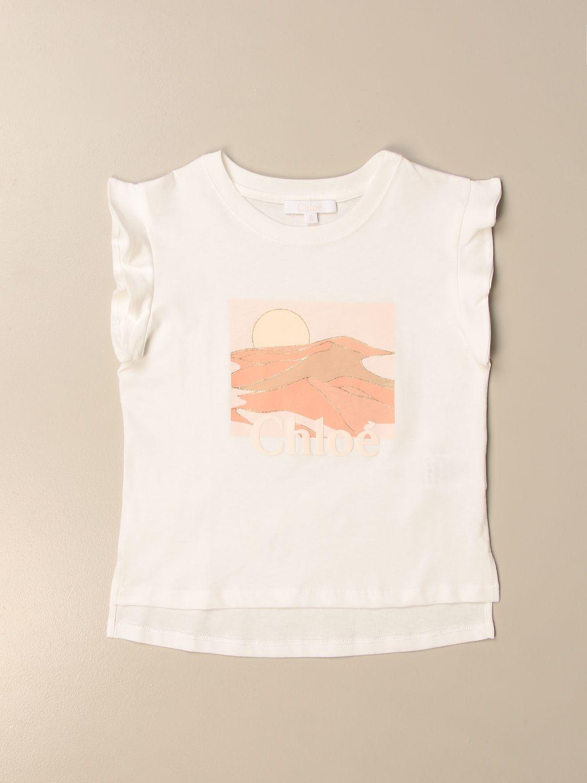 Camisetas Chloé: Camisetas niños ChloÉ blanco 1