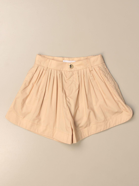 Pantalones cortos Chloé: Pantalones cortos niños ChloÉ beige 1