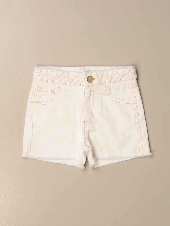 Pantalones cortos Chloé: Pantalones cortos niños ChloÉ blanco 1