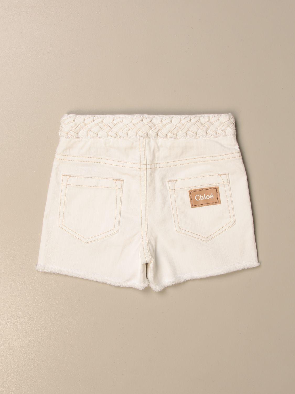 Pantalones cortos Chloé: Pantalones cortos niños ChloÉ blanco 2