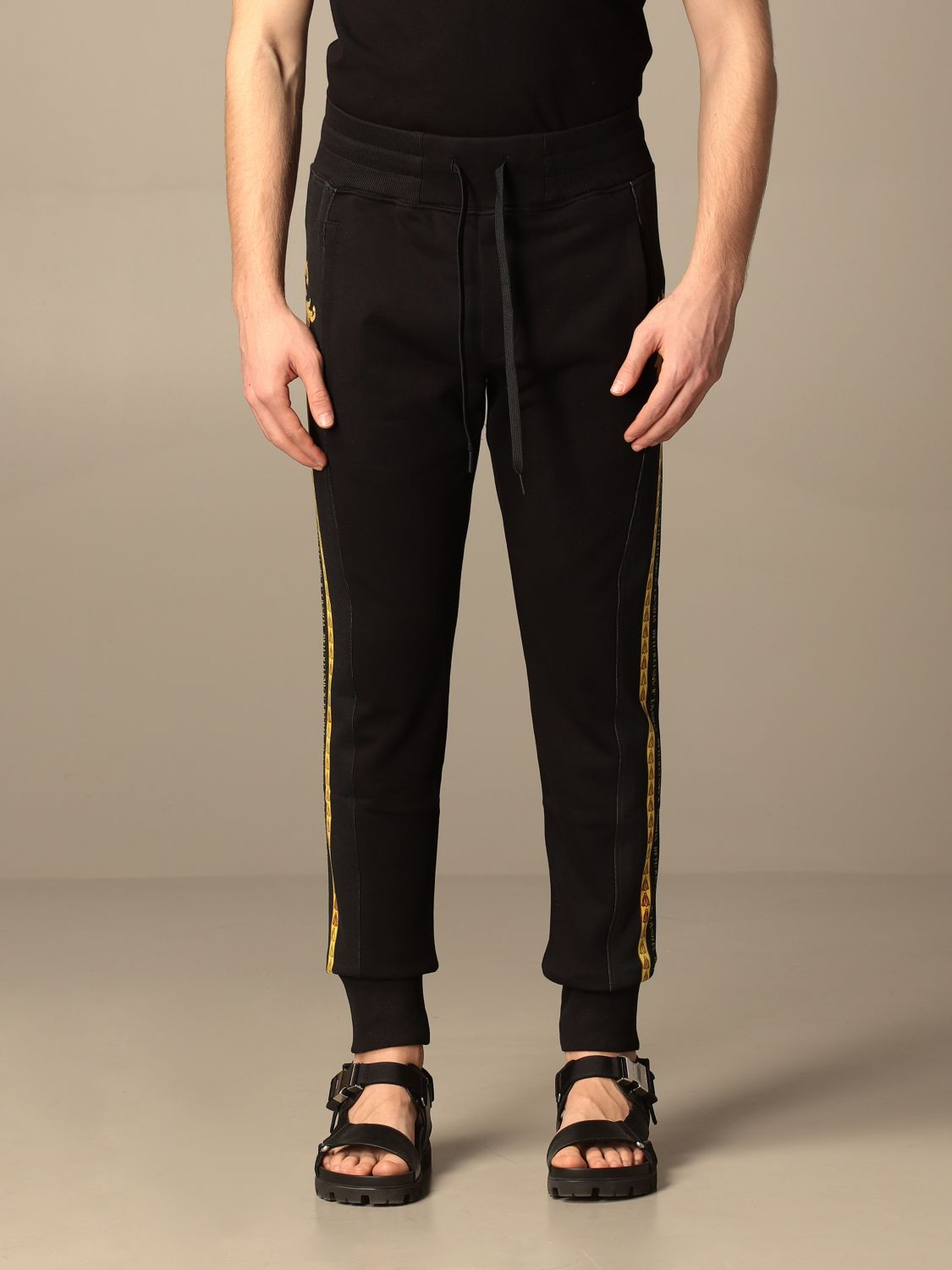 Trousers Versace Jeans Couture: Trousers men Versace Jeans Couture black 1