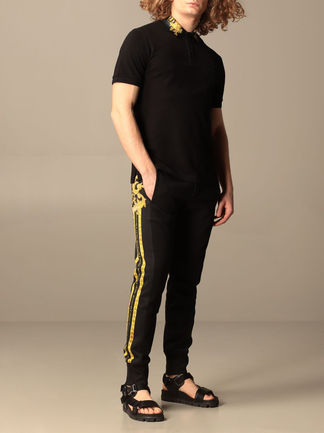 Trousers Versace Jeans Couture: Trousers men Versace Jeans Couture black 2