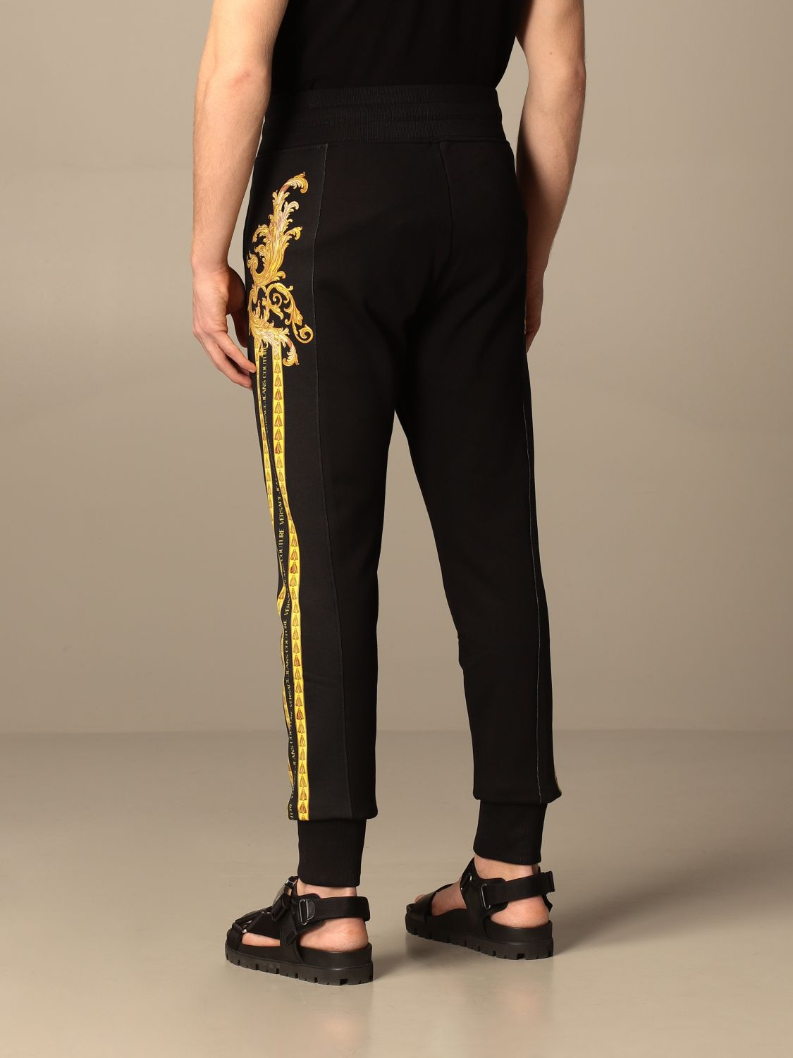 Trousers Versace Jeans Couture: Trousers men Versace Jeans Couture black 3
