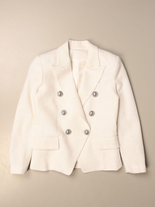 Blazer Balmain: Balmain double-breasted jacket ivory 1