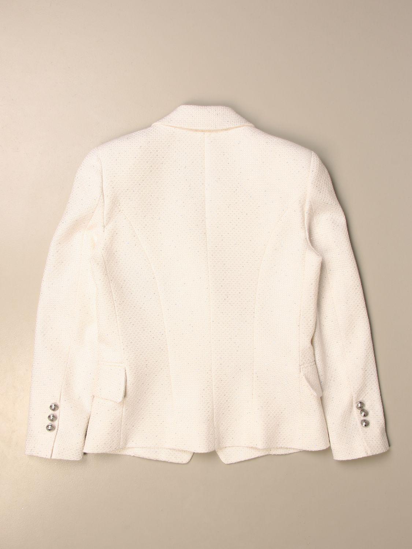 Blazer Balmain: Balmain double-breasted jacket ivory 2