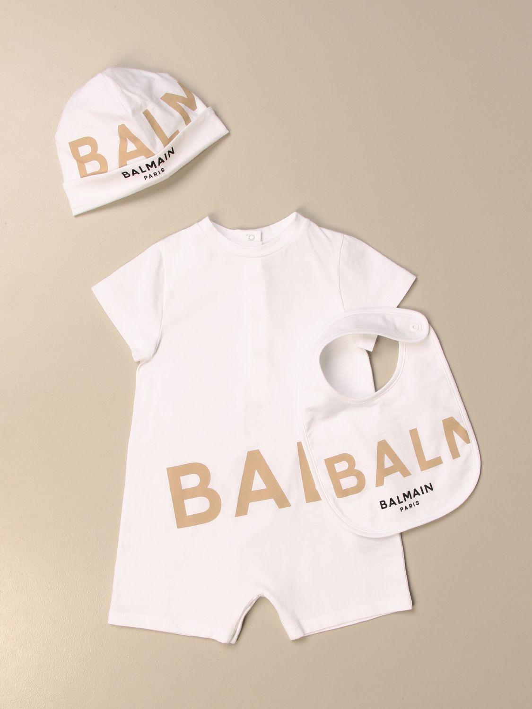 Pack Balmain: Monopieza niños Balmain blanco 1