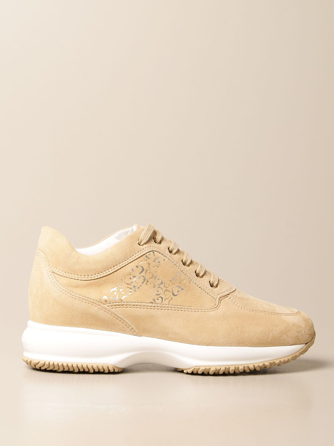 HOGAN: Interactive sneakers in suede with decorated H   Sneakers ...