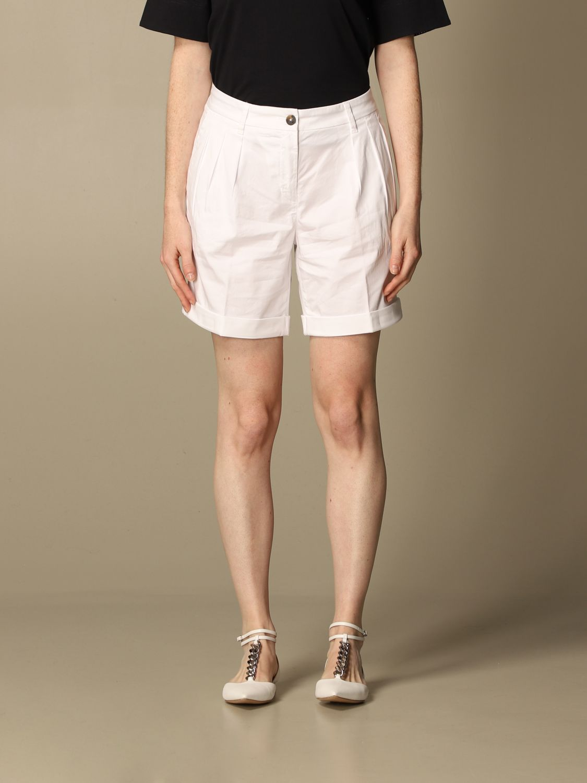 Pantalones cortos Fay: Pantalones cortos mujer Fay blanco 1