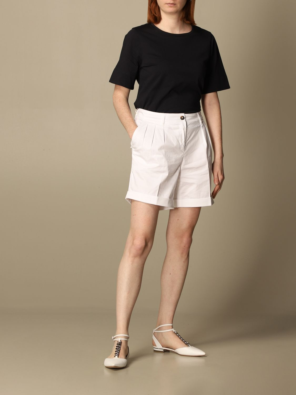 Pantalones cortos Fay: Pantalones cortos mujer Fay blanco 2