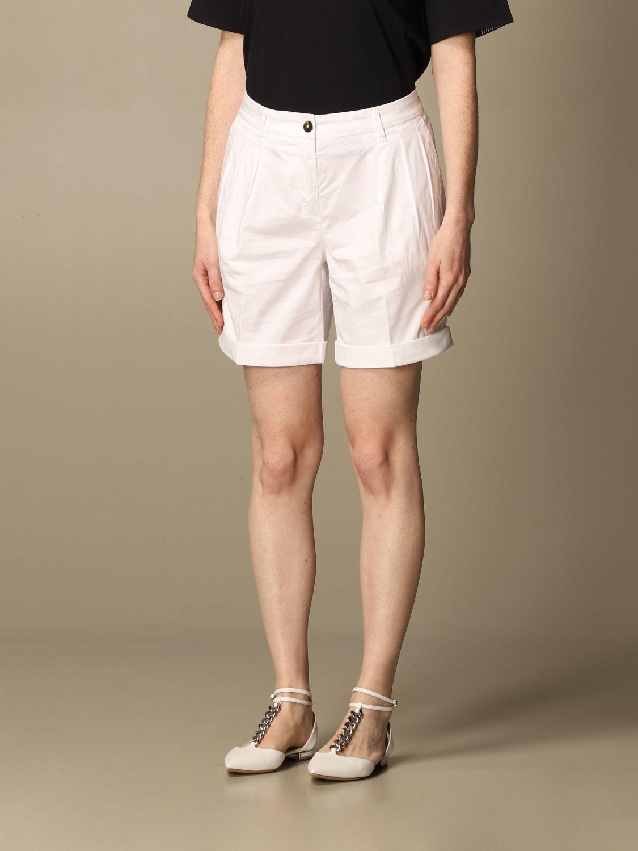 Pantalones cortos Fay: Pantalones cortos mujer Fay blanco 4