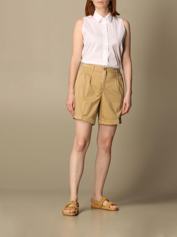 Pantalones cortos Fay: Pantalones cortos mujer Fay beige 2