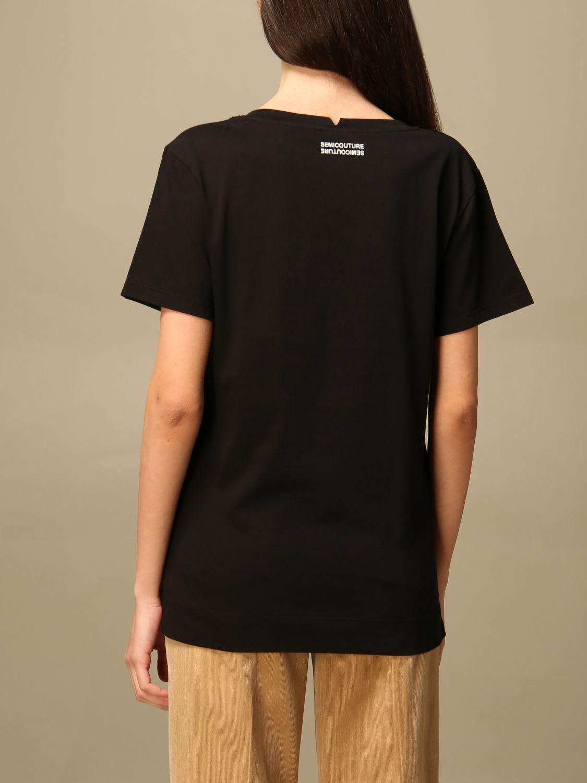 T-Shirt Semicouture: T-shirt damen Semicouture schwarz 2