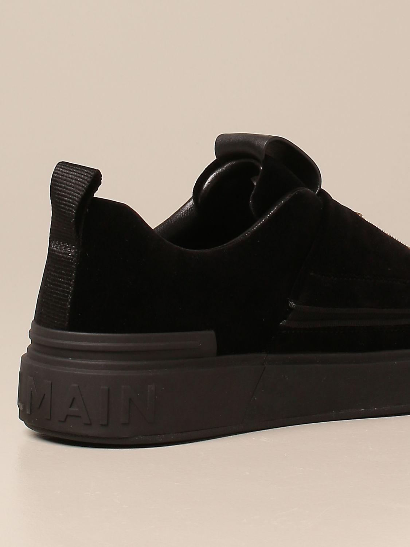 Trainers Balmain: B-Court Balmain trainers in velvet with logo black 3