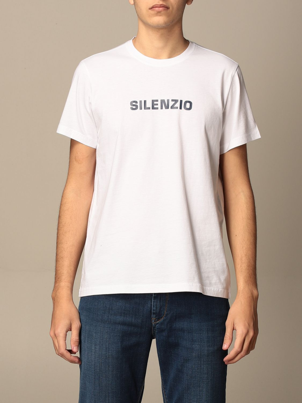 T-shirt Aspesi: Aspesi cotton T-shirt with silence print white 1