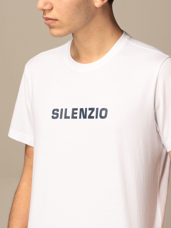 T-shirt Aspesi: Aspesi cotton T-shirt with silence print white 3