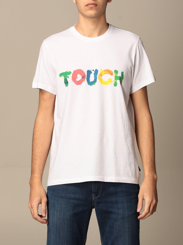 T-shirt Aspesi: T-shirt Aspesi in cotone con stampa touch bianco 1