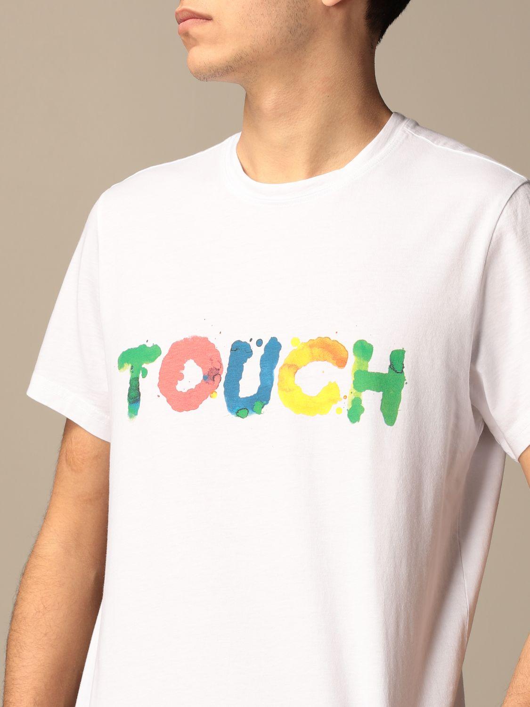 T-shirt Aspesi: T-shirt Aspesi in cotone con stampa touch bianco 3