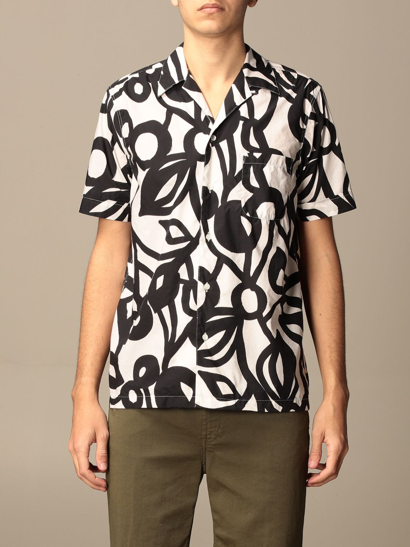 Shirt Aspesi: Aspesi printed cotton shirt blue 1