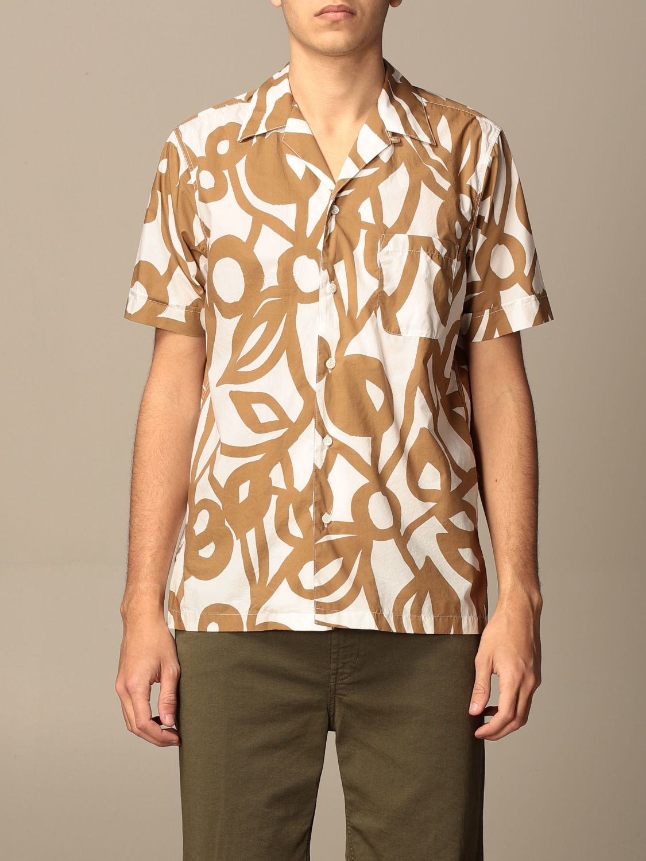 Camicia Aspesi: Camicia Aspesi in cotone stampata beige 1