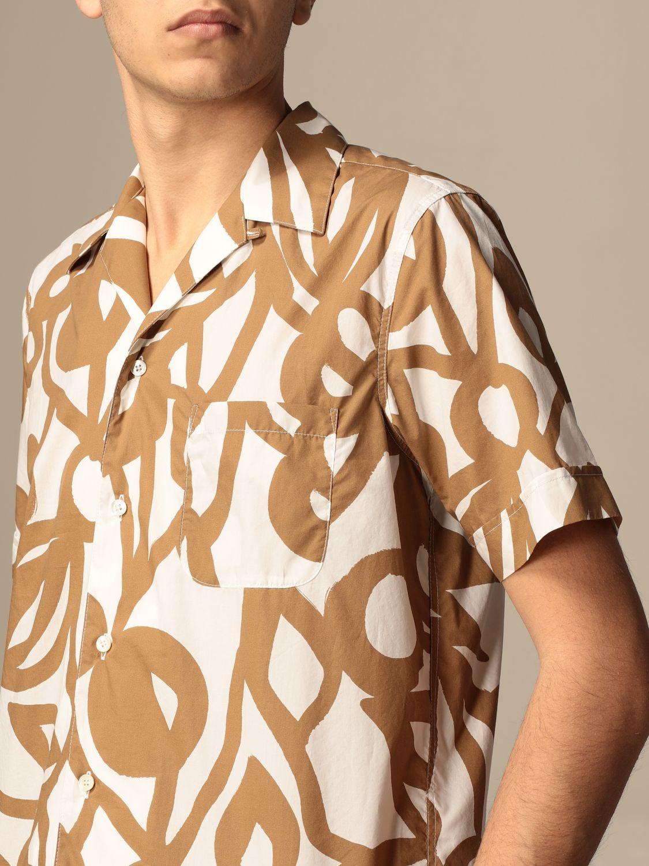 Camicia Aspesi: Camicia Aspesi in cotone stampata beige 3