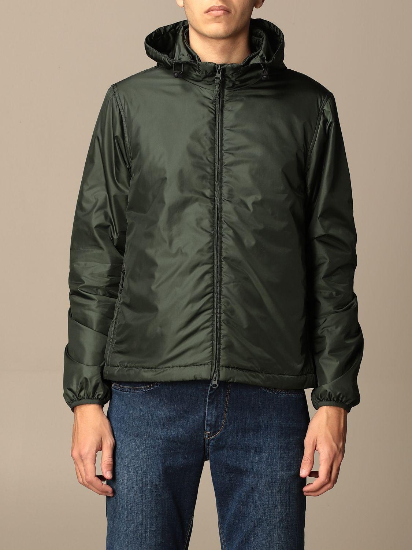 Jacket Aspesi: Aspesi nylon jacket with hood and zip green 1