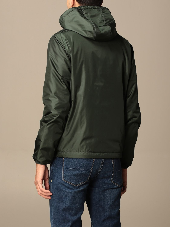 Jacket Aspesi: Aspesi nylon jacket with hood and zip green 2