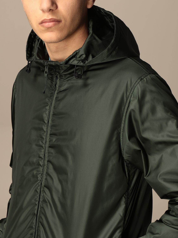 Jacket Aspesi: Aspesi nylon jacket with hood and zip green 4