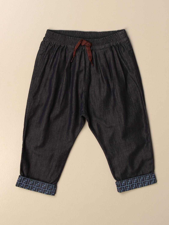Jeans Fendi: Fendi jogging jeans with all-over FF cuffs denim 1