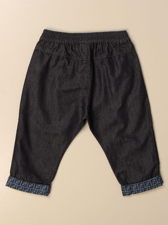 Jeans Fendi: Fendi jogging jeans with all-over FF cuffs denim 2