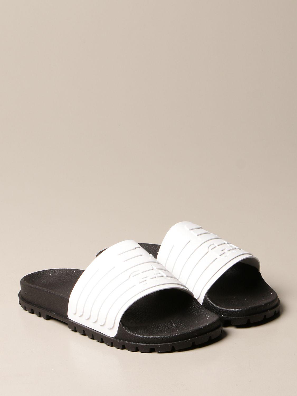 Sandales Emporio Armani: Chaussures homme Emporio Armani blanc 2