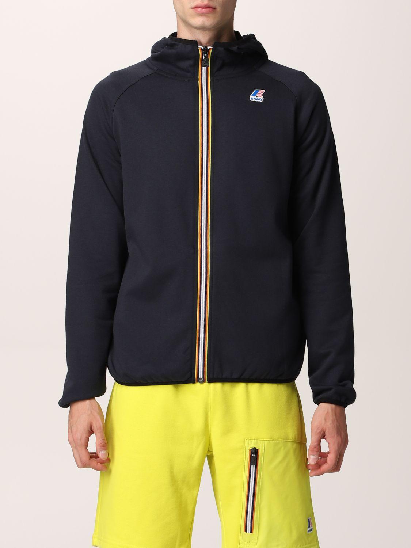 Sweatshirt K-Way: Sweatshirt homme K-way bleu 1