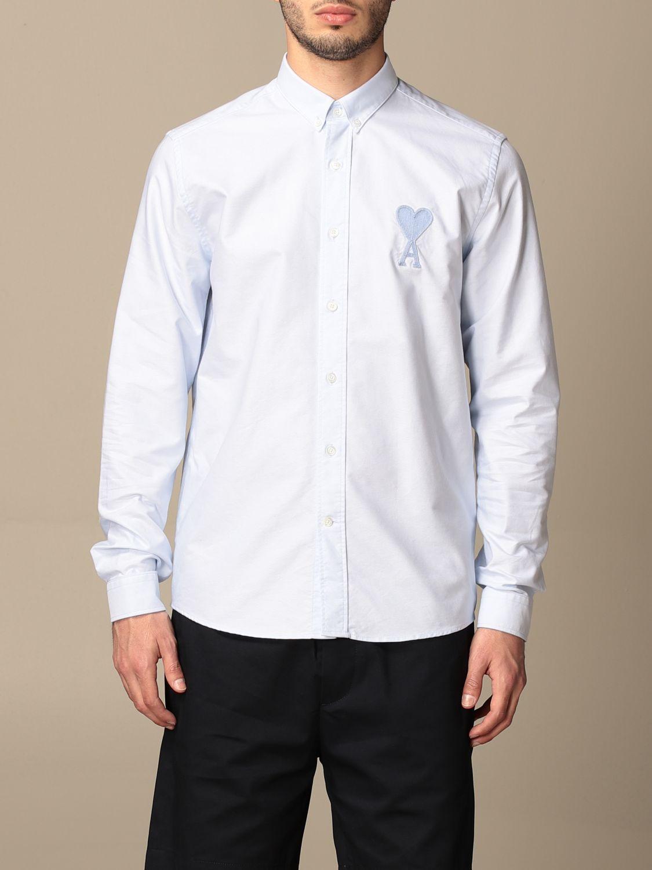 Shirt Ami Alexandre Mattiussi: Ami Alexandre Mattiussi cotton shirt sky blue 1