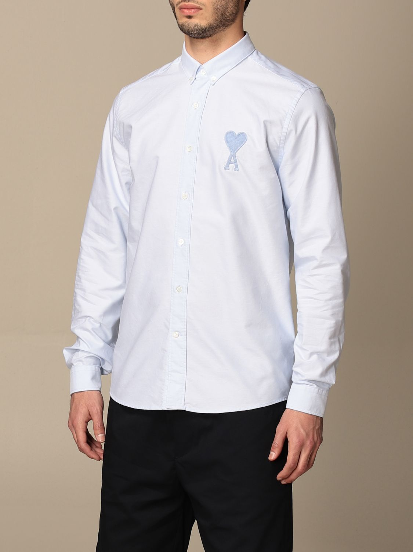 Shirt Ami Alexandre Mattiussi: Ami Alexandre Mattiussi cotton shirt sky blue 3