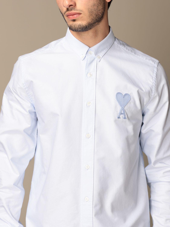 Shirt Ami Alexandre Mattiussi: Ami Alexandre Mattiussi cotton shirt sky blue 4