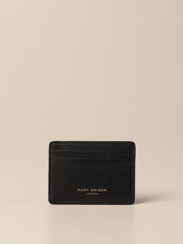 Portafoglio Kurt Geiger London: Porta carte di credito Kurt Geiger London in pelle nero 1