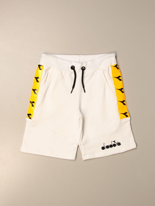 Pantalón corto Diadora: Pantalón corto niños Diadora blanco 1