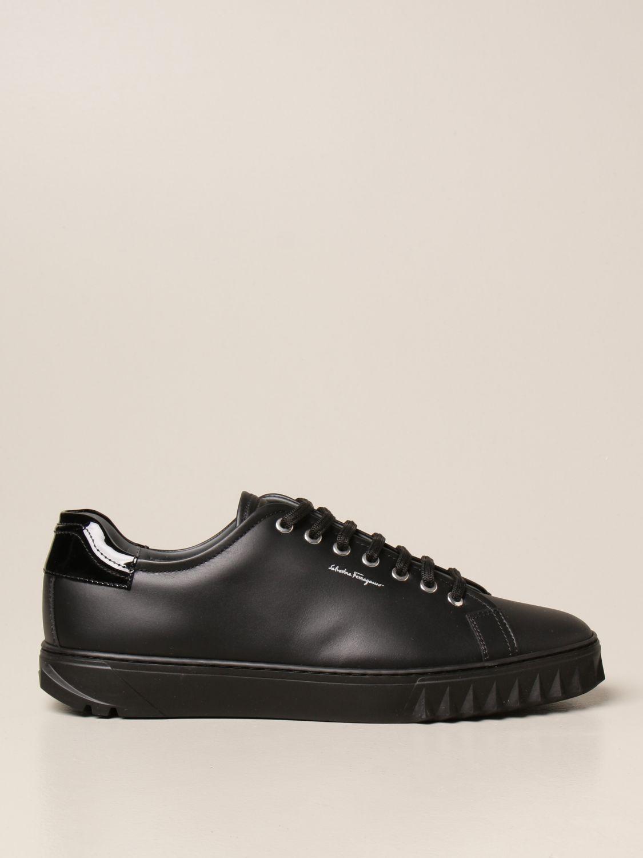 Sneakers Salvatore Ferragamo: Sneakers Cube Salvatore Ferragamo in pelle nero 1