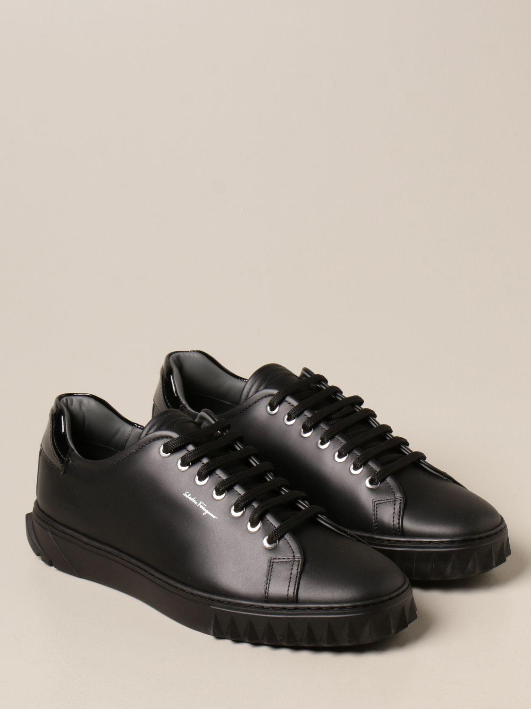 Sneakers Salvatore Ferragamo: Sneakers Cube Salvatore Ferragamo in pelle nero 2