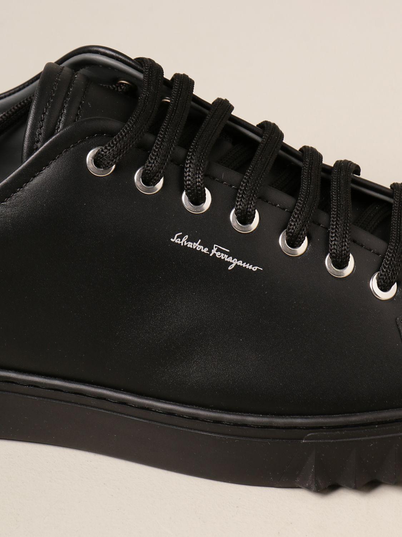 Sneakers Salvatore Ferragamo: Sneakers Cube Salvatore Ferragamo in pelle nero 4
