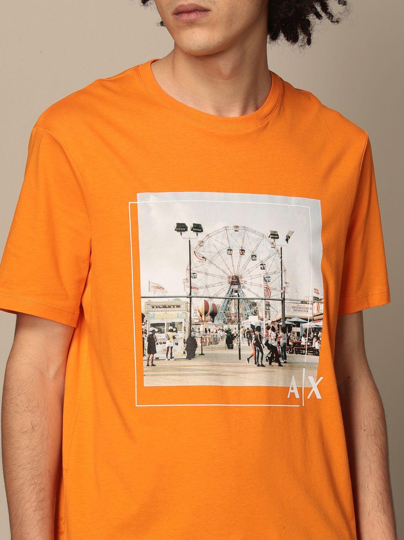 T-shirt Armani Exchange: T-shirt men Armani Exchange orange 3