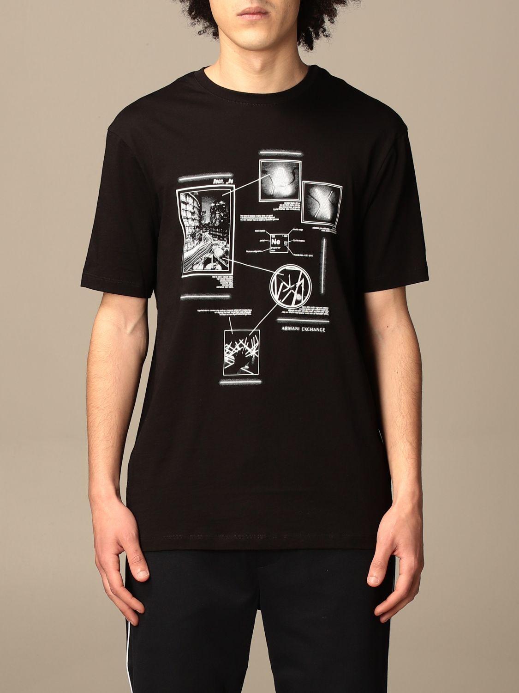 T-shirt Armani Exchange: Armani Exchange T-shirt with print black 1
