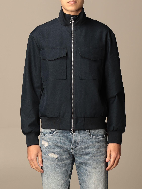 Jacket Armani Exchange: Armani Exchange zip jacket with logo blue 1