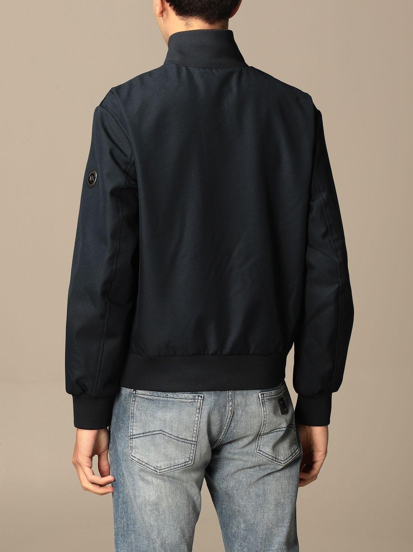 Jacket Armani Exchange: Armani Exchange zip jacket with logo blue 2
