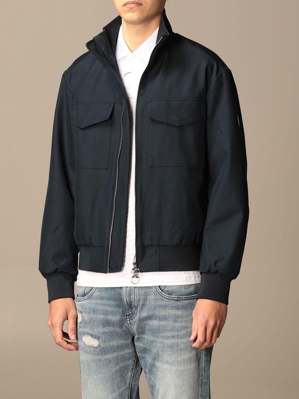 Jacket Armani Exchange: Armani Exchange zip jacket with logo blue 3